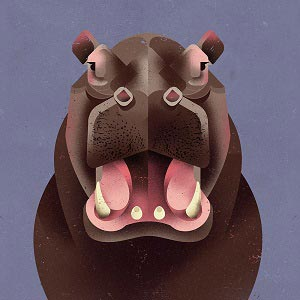 Hippopotamuses Canvas Art Prints