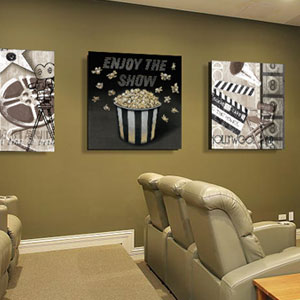 Home Theater Canvas Art Prints