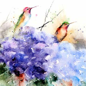 Hummingbirds Canvas Artwork