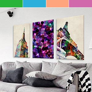 Bijoux Jewel Tones Canvas Art Prints