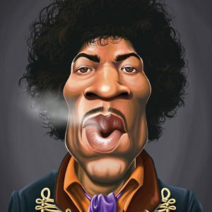 Jimi Hendrix Canvas Artwork