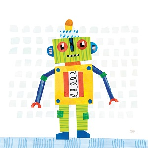 Kids Robot Art Canvas Art