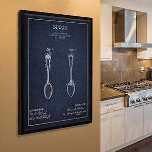 Kitchen Blueprints Canvas Prints
