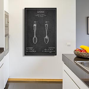 Kitchen Blueprints Canvas Art
