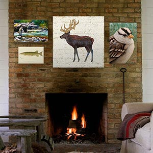 Lake Lodge Canvas Art Prints