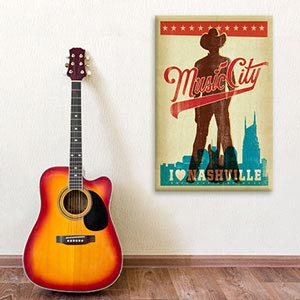 Legendary Music Cities Canvas Prints