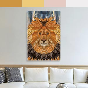 Leo Colors Canvas Artwork
