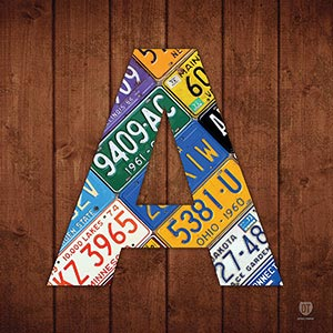 Letter A Canvas Prints