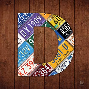Letter D Canvas Art