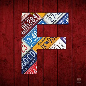 Letter F Canvas Wall Art