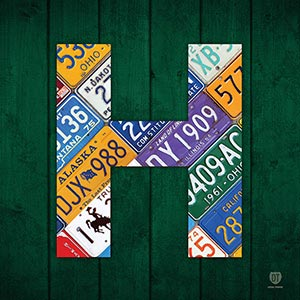 Letter H Canvas Wall Art