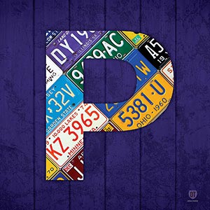 Letter P Canvas Art Prints