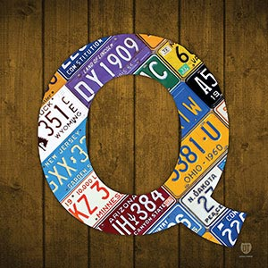 Letter Q Canvas Wall Art