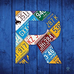 Letter R Canvas Art Prints
