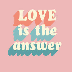 Love Typography Canvas Art