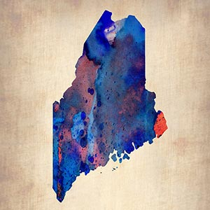 Maine Canvas Art Prints