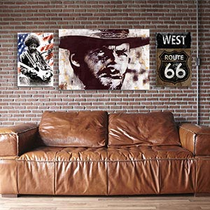 Retro Den Canvas Wall Art