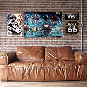 Retro Den Canvas Art