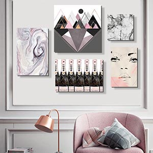 Marble & Blush Art Prints