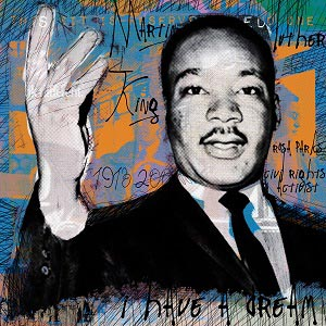 Martin Luther King Jr. Canvas Wall Art