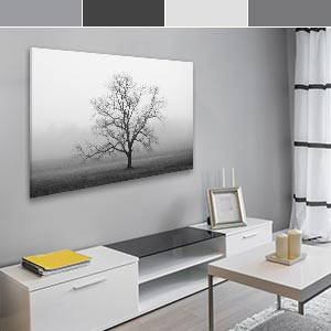 Mercurial Grays Canvas Wall Art