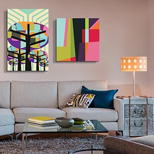 Mid-Century Graphic Canvas Art Prints