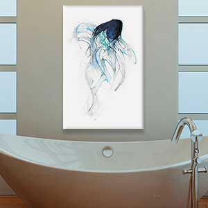 Minimalist Bathroom Canvas Art Prints