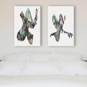 Minimalist Bedroom Canvas Art Prints