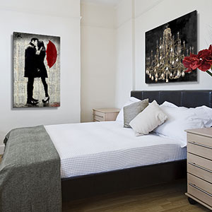 Modern Romantic Bedroom Canvas Art Prints