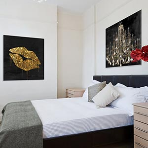 Modern Romantic Bedroom Canvas Prints