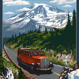 Mount Rainier National Park Canvas Art Prints