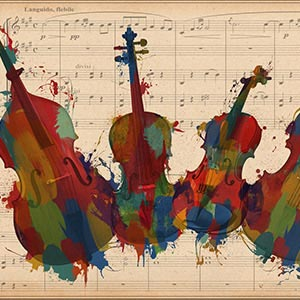 Music Instrument Collection Canvas Art