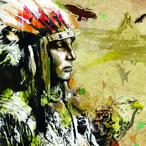 Native American Decor Canvas Prints