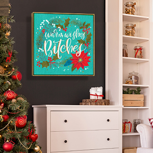 Naughty or Nice Canvas Art Prints