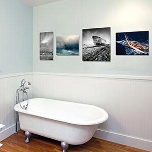 Nautical Bathroom Canvas Artwork