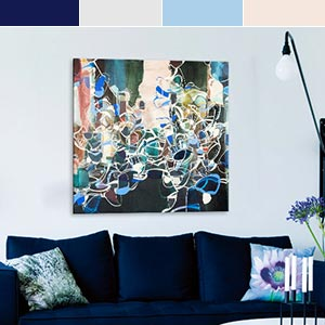 Navy & Neutrals Canvas Prints