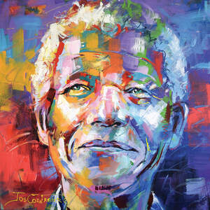 Nelson Mandela Canvas Art Prints