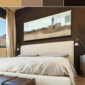 Neutral Suede Canvas Wall Art