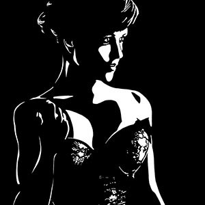 Noir Ladies Canvas Art Prints