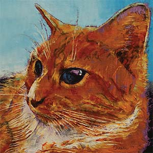 Orange Cats Canvas Artwork
