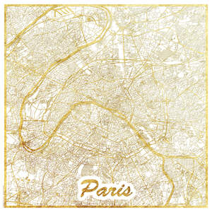 Paris Maps Art Prints