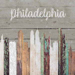 Philadelphia Skylines Canvas Wall Art