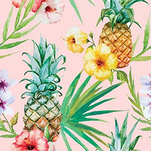 Pineapples Canvas Wall Art