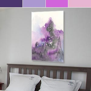 Pisces Colors Canvas Prints