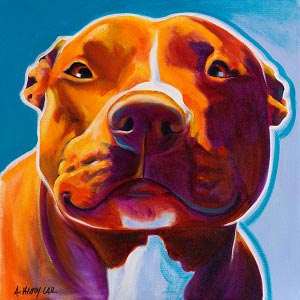 Pit Bulls Canvas Prints