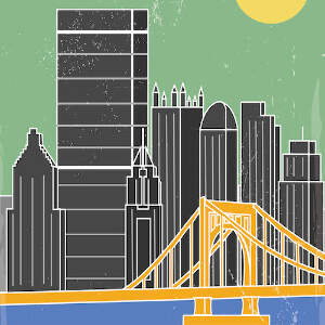 Pittsburgh Travel Posters Canvas Artwork