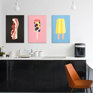 Pop Art Kitchen Canvas Wall Art