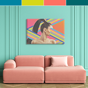 Psychedelic Coral Canvas Art Prints