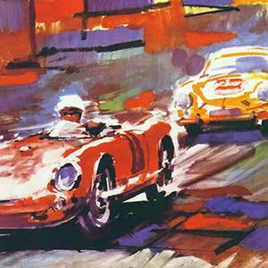 Auto Racing Canvas Artwork