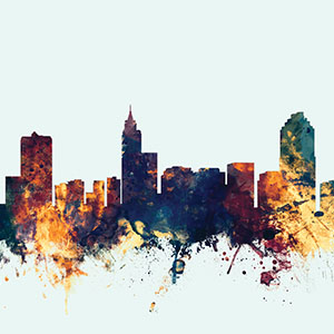 Raleigh Canvas Artwork